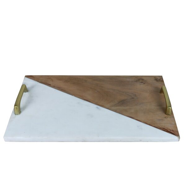 Alicea Marble Accent Tray by Langley Street