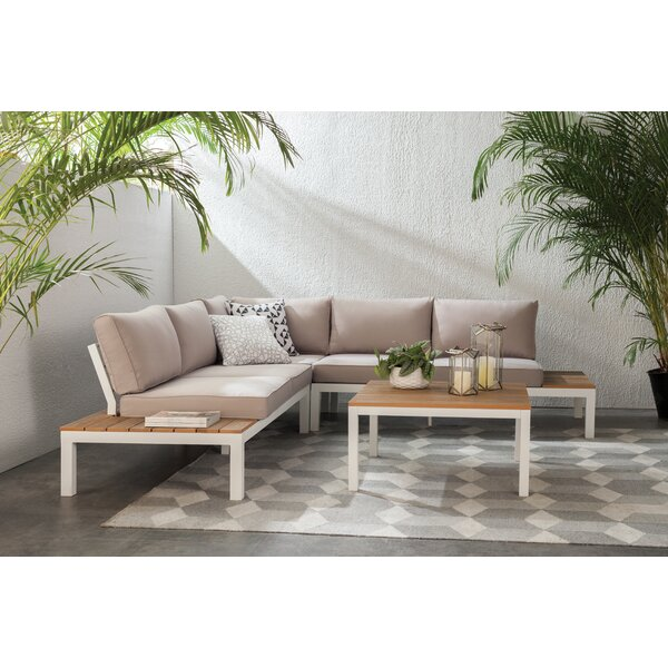 Schneider 4 Piece Sectional Set with Cushion by Mistana
