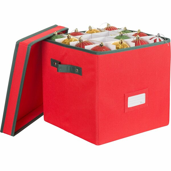 Premium Christmas Ornament Storage Box with Lid an