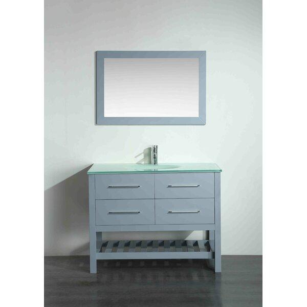 Bosley 43 Single Bathroom Vanity Set with Mirror by Bosconi