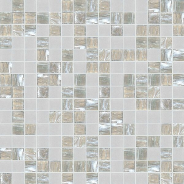 Standard Mix 13 x 13 Glass Mosaic Tile in Gray/Beige by Mosaic Loft