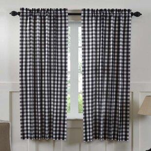 Caulder Buffalo Check Lined 100 Cotton Curtain Panels Set Of 2