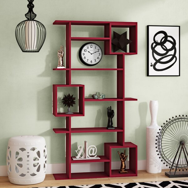 Hillary Modern Geometric Bookcase By Wrought Studio