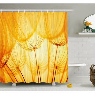 Best Reviews Joy of Dandelion Flower Garden Seeds in Hot Summer Time Themed Artwork Shower Curtain Set By Ambesonne