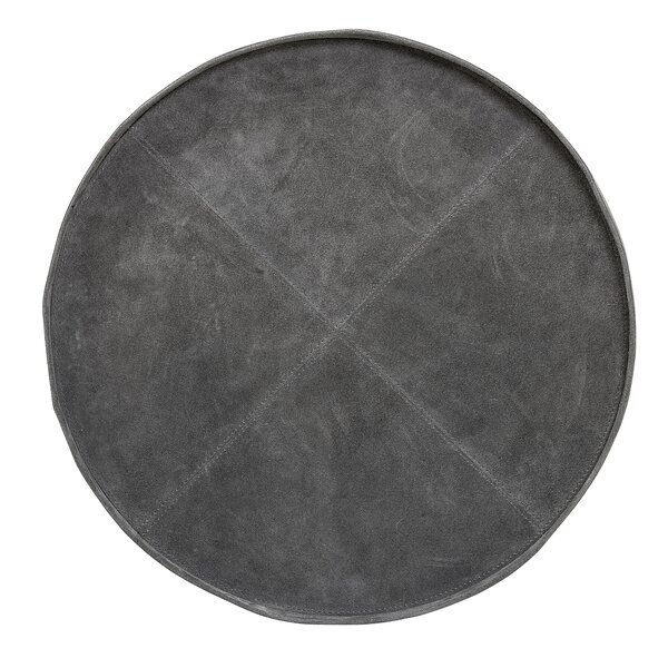 Round Decorative Suede Serving Tray by Union Rustic
