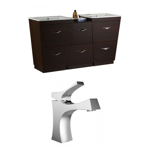 Vee 62 Double Bathroom Vanity Set by American Imaginations