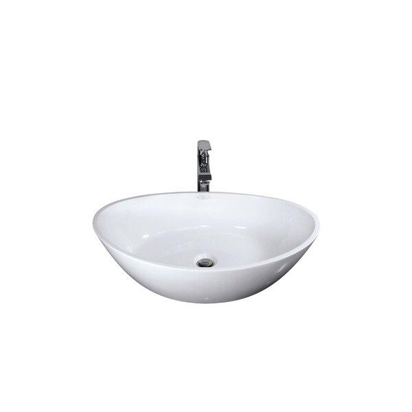 Polished White Handmade Rectangular Vessel Bathroom Sink