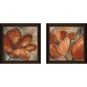 Bold and Sassy' 2 Piece Framed Acrylic Painting Print Set Under Glass by Winston Porter