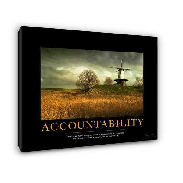 Accountability Windmill Motivational Photographic Print by Successories
