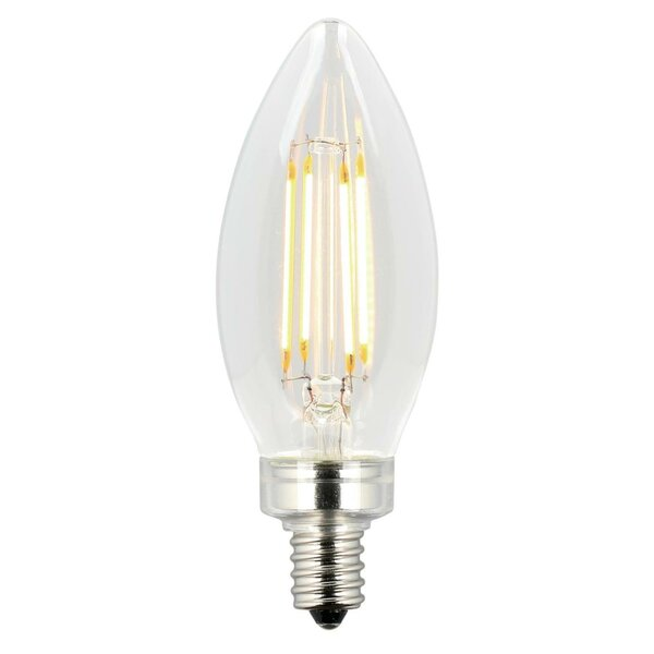 5W E12 Dimmable LED Edison Candle Light Bulb (Set of 2) by Westinghouse Lighting
