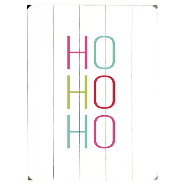 HO HO HO Textual Art Multi-Piece Image on Wood by Artehouse LLC