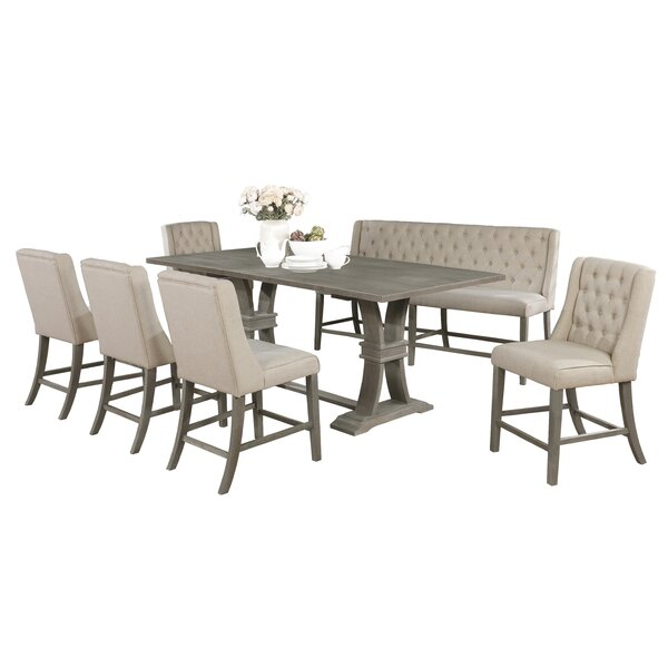 Marisol 7 Piece Counter Height Dining Set by Gracie Oaks Gracie Oaks
