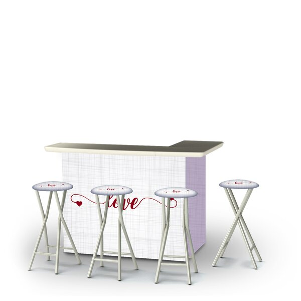 Allo Valentines Simple Love 5-Piece Bar Set by East Urban Home