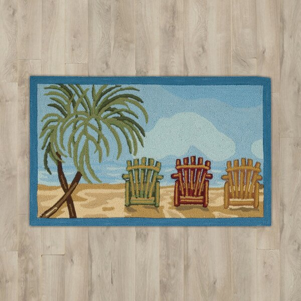 Estelle Beach Chairs Area Rug by Highland Dunes