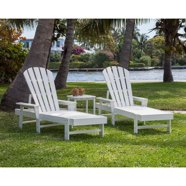 South Beach Chaise 3-Piece Seating Group Lounge Set by POLYWOOD®