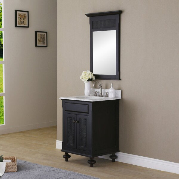 Carlson 24 W Single Bathroom Vanity Set with Mirror by dCOR design