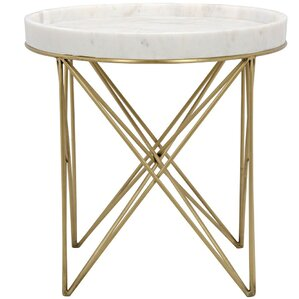 Prisma Metal End Table by Noir