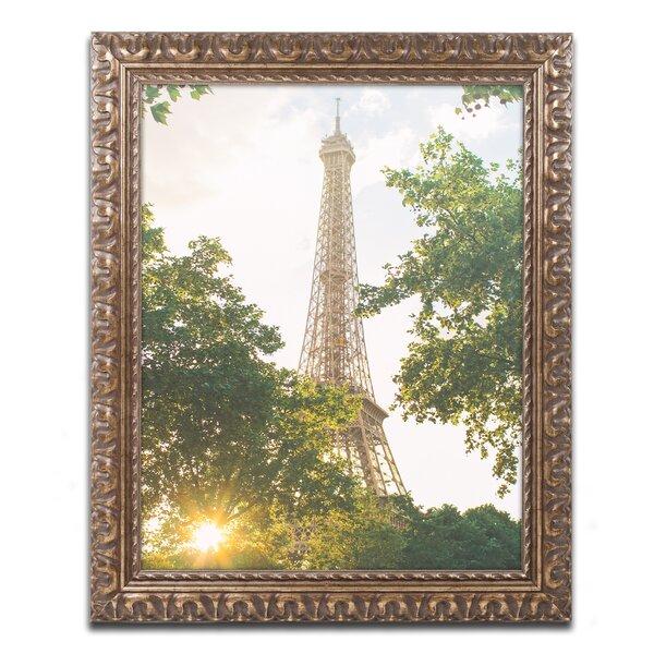 Eiffel Tower Sunset by Ariane Moshayedi Framed Photographic Print by Trademark Fine Art