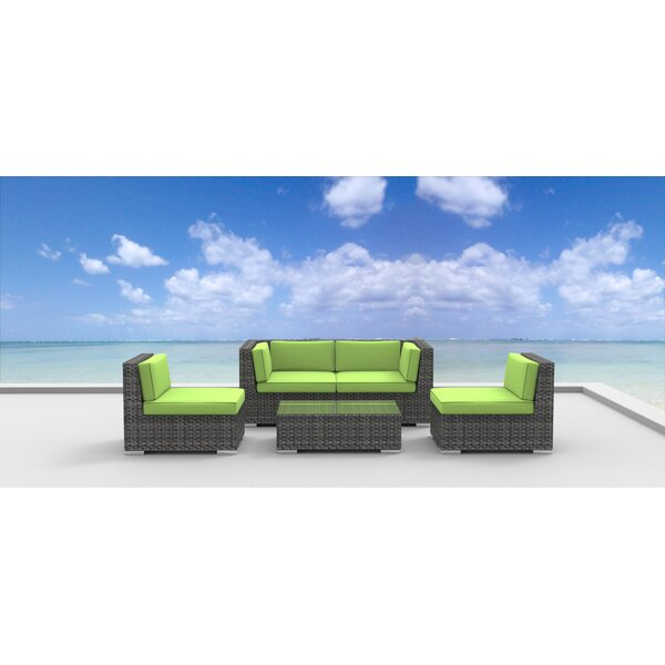 Rio 5 Piece Sofa Set with Cushions by Urban Furnishings