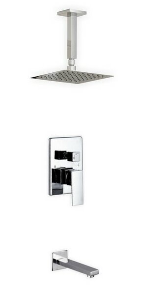 Cahoon Diverter Tub And Shower Faucet With Rough-in Valve By Rebrilliant