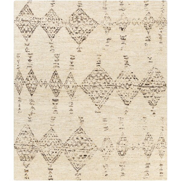 Karli Southwestern Hand-Knotted Cream/Brown Area Rug