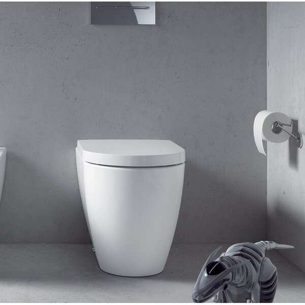 Me by Starck Dual-Flush Elongated Wall Mounted Toilet (Seat Not Included) by Duravit