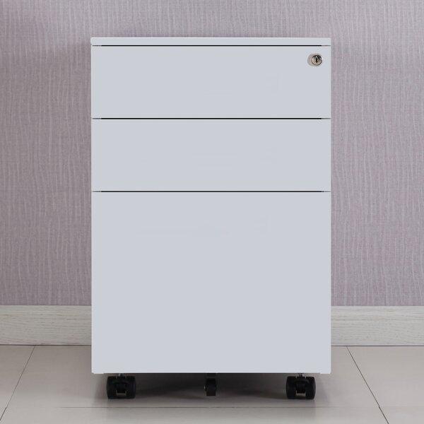 Geoffrey 3-Drawer Mobile Vertical Filing Cabinet