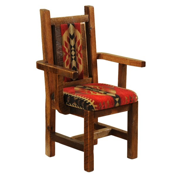 Barnwood Upholstered Dining Chair by Fireside Lodge Fireside Lodge