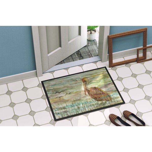 Cora Pelican Sunset Indoor/Outdoor Non-Slip Outdoor Door Mat