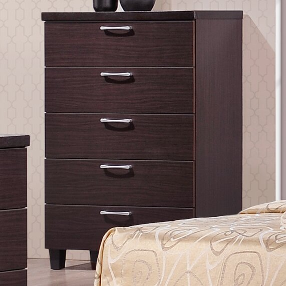 Carpendale 5 Drawer Chest by Latitude Run