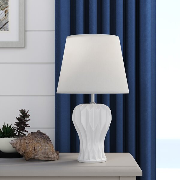 Josefa Abstract Curved 18.5 Lamp by Highland Dunes