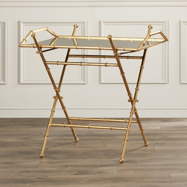 Rex Tray Top Cross Legs End Table By Mercer41