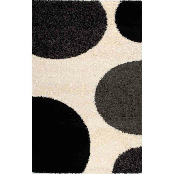 Porsha Game of Dots Cream Area Rug by Red Barrel Studio