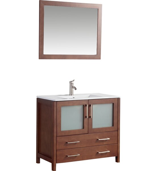 Neuman 36 Single Bathroom Vanity Set with Mirror by Ebern Designs