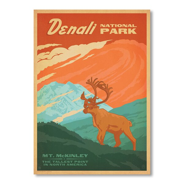 Denali National Park Vintage Advertisement by East Urban Home