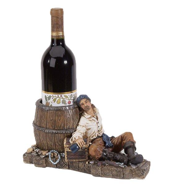 Bryden Pirate 1 Tabletop Wine Bottle Rack by Longshore Tides