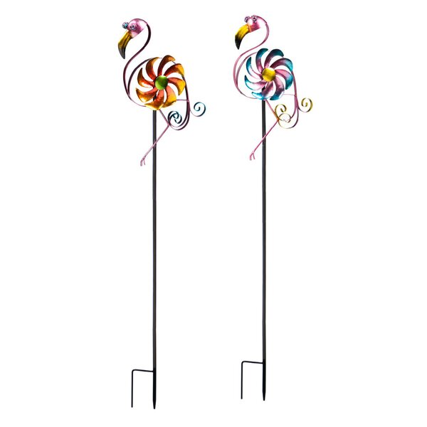 Amarnthus Flamingo Spinner (Set of 2) by Bay Isle Home