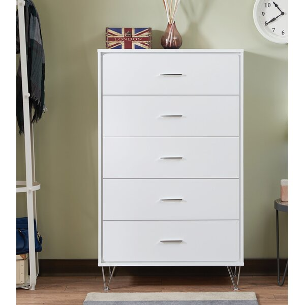 Azurine Contemporary 5 Drawer Chest by Modern Rustic Interiors