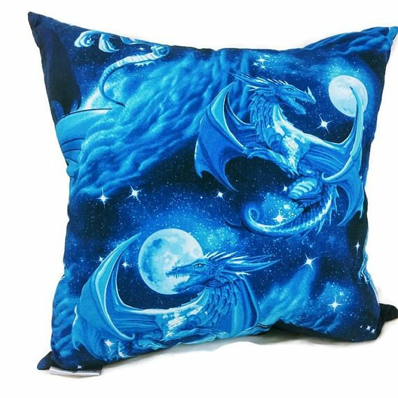 Dragon Throw Pillow by East Urban Home