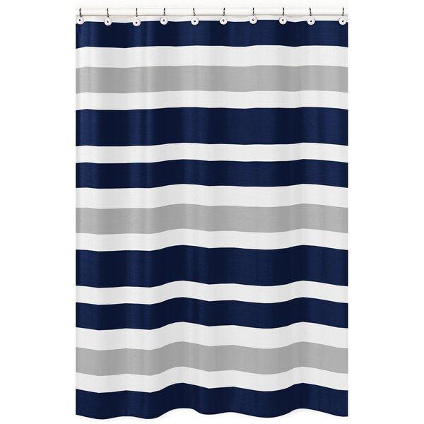 Sweet Jojo Designs Stripe Brushed Microfiber Shower Curtain Reviews