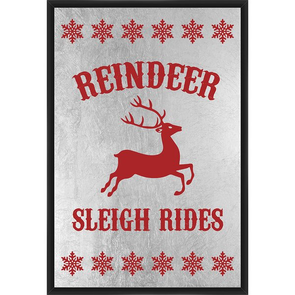 Reindeer Sleigh Rides Framed Textual Art by PTM Images