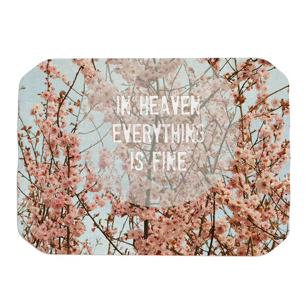 Robin Dickinson In Heaven Cherry Blossom Placemat by East Urban Home