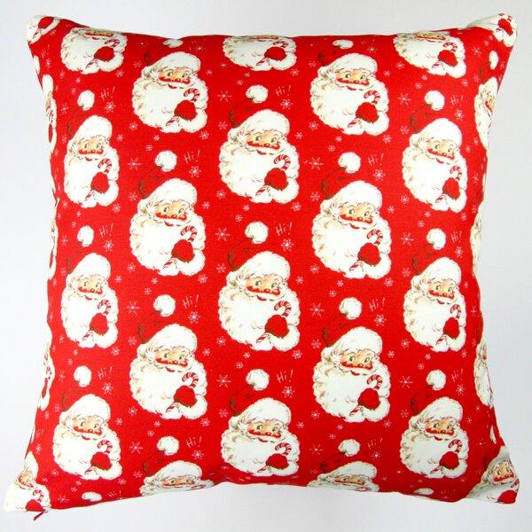Christmas Hi Santa Throw Pillow by Artisan Pillows