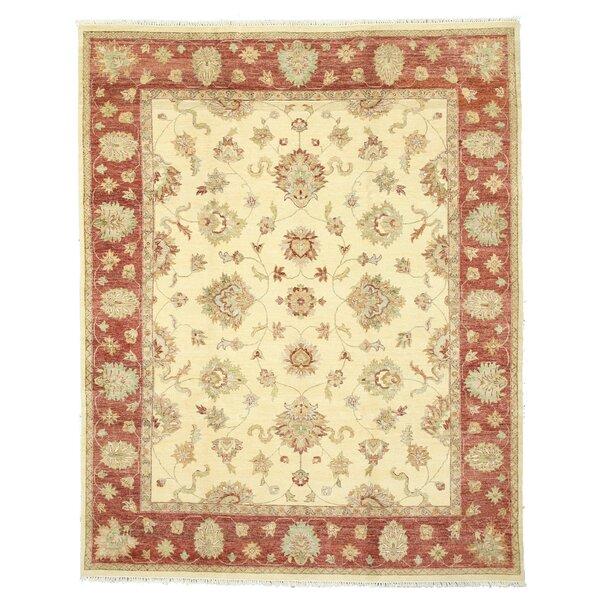 Hand-Knotted Ivory Area Rug by Eastern Rugs
