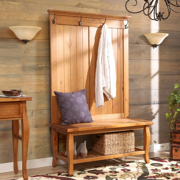 Finleyville Solid Wood Hall Tree with Bench