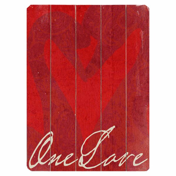 One Love Graphic Art Print Multi-Piece Image on Wood by Artehouse LLC