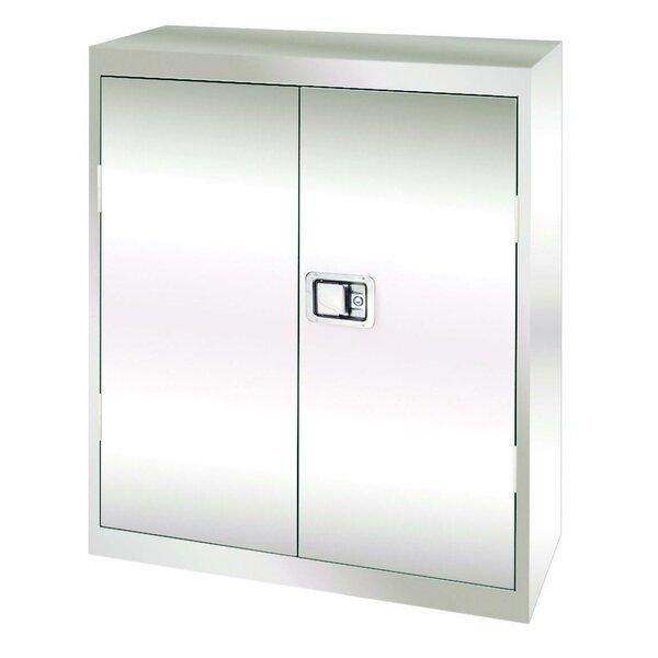 Stainless Steel 2 Door Storage Cabinet by Sandusky Cabinets