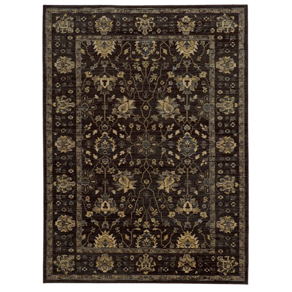 Tommy Bahama Vintage Charcoal  Oriental Rug by Tommy Bahama Home