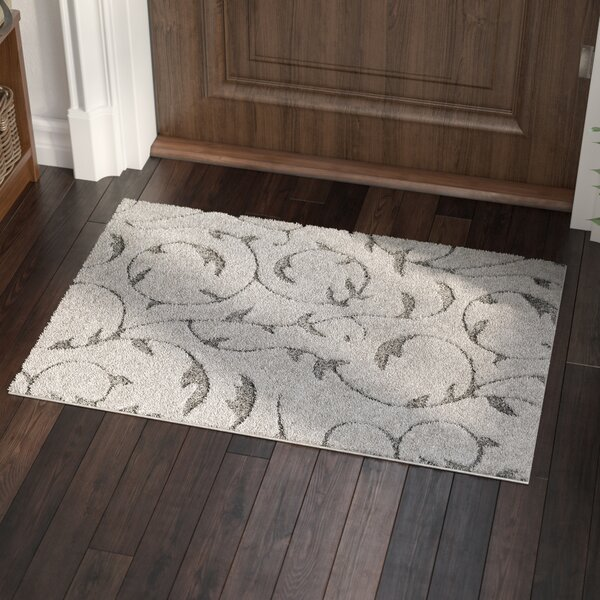Murdock Soft Floral Shag Gray Area Rug by Andover Mills