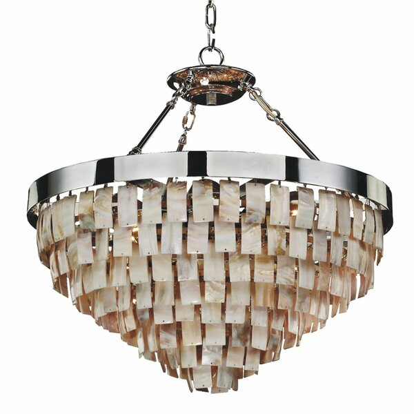 Miguel 6-Light Unique / Statement Tiered Chandelier By Rosecliff Heights